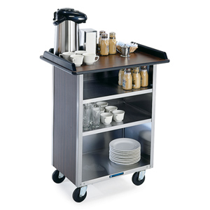 Lakeside 636 Beverage Service Cart w/o Drop Leaves 28 x 27