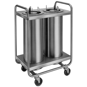 Lakeside LA772 Mobile Unheated Self-Leveling Dish Dispenser 2-Stack, Plate Size: 4 1/4 to 7 1/2