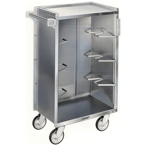 Lakeside 790 Enclosed Bussing Cart 5 Shelf 16 x 22