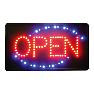 Winware by Winco LED-6 OPEN Business Sign with Flashing LEDs