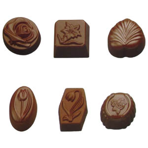 Polycarbonate Chocolate Mold Assorted 36 Cavities