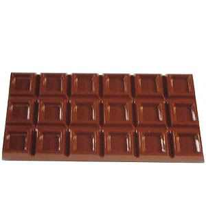 Polycarbonate Chocolate Mold Block 161x79mm x 9mm High, 3 Cavities