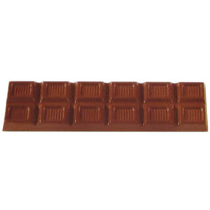 Polycarbonate Chocolate Mold Block 112x30mm x 7mm High, 8 Cavities