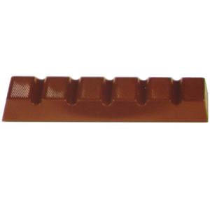 Polycarbonate Chocolate Mold Bar 130x29mm x 15mm High, 7 Cavites