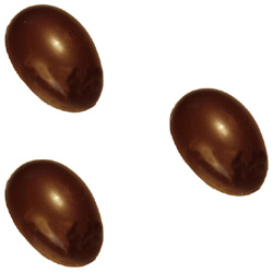 Polycarbonate Chocolate Mold Half-Egg 6 x 4-1/8 x 2-1/8 High, 3 Cavities. Buy 2 Molds to Make Whole Eggs