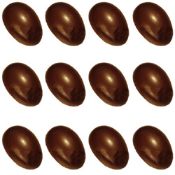Polycarbonate Chocolate Mold Half-Egg, 2; 12 Cavities. Buy 2 molds to make Whole Eggs