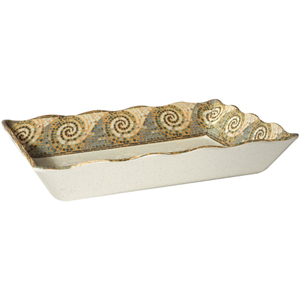 G. E. T. Melamine Tray, Mosaic Pattern, 14 x 9.75 x 2.5 deep - Case of 6