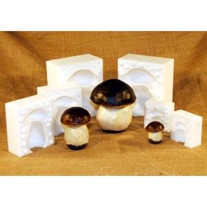 Silicone Mushroom Mold, Large 5 5