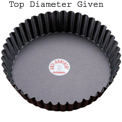 Gobel Round Fluted Non-Stick Tart / Quiche Pan w/Removable Bottom 7-1/2 x 1-3/4 Deep