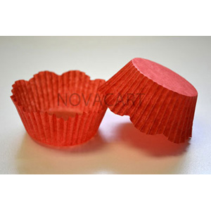 Novacart Disposable Red Paper Petal Baking Cups - 1 Pack