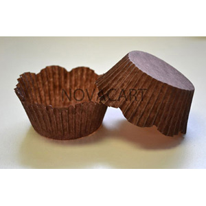 Novacart Disposable Brown Petal Paper Baking Cup - 1 Case N2J50327