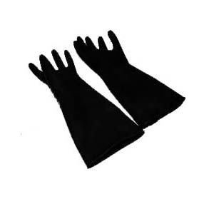 Winco Natural Latex Gloves, 18 Long, 1 Pair