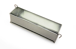 Gobel Pate Terrine Mold with hinges, Tinned Steel, 20 x 3 x 3 High