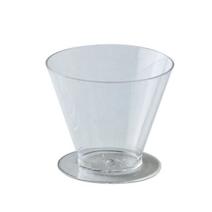 Round Dessert Cups Clear Plastic, 2.5 Dia. x 2 H. 90 ml (3 Oz) - Pack of 100