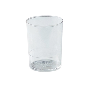 Round Dessert Cups Clear Plastic, 2 Dia x 2.5 H Capacity 90 ml. (3 oz) - Pack of 100