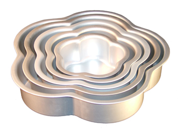 Fat Daddios Anodized Aluminum Petal Cake Pan 3 Inch