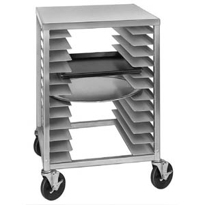 Channel Pizza Tray Half Size Rack Work Table - Aluminum Construction - 34 x 22 x 20
