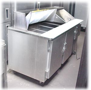 Custom Cool Stainless Steel Salad Bar Prep Table   USED