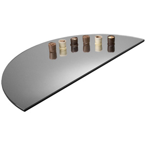 Gourmet Display Half Round Acrylic Mirror Tray