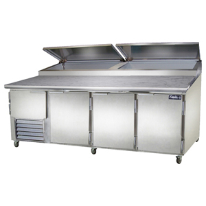 Leader Pt96 Stainless Steel Pizza Prep Table 96 Self