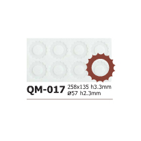 Silicone Chocolate Sheet, Gear 57mm, 8 Cavities