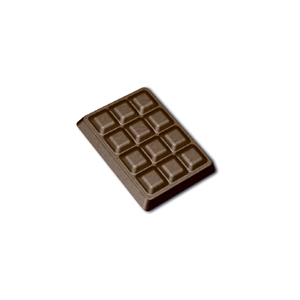 Silikomart Silicone Chocolate Mold: Mini Tablet 12 Cavities (Totaling 44 ml)