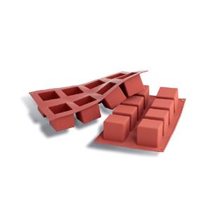Silikomart Silicone Bakeware Square Cube Mold 4 Oz 50mm X