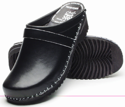 Chef Revival Professional Wood Sole Chef Clogs, Open Back