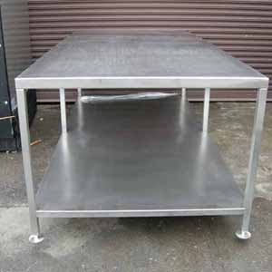 Stainless Steel Table Custom Made Brand New X Used Equipment - 4x8 steel table