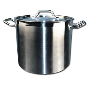 Winco Stainless Steel Stock Pot with Cover, 12 Quart