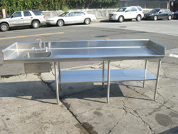 used commercial kitchen sinks stainless steel custom made stainless steel kitchen table 9558