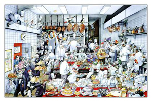 Kitchen Poster by de Roger Blachon. Size: 12 1/2 x 17 1/2