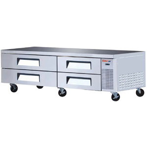 Turbo Air TCBE-82SDR Refrigerated Chef Base 82 - 19 Cu. Ft.