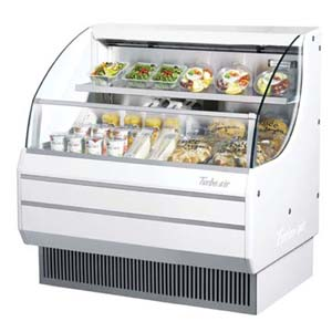 Turbo Air TOM-40L Horizontal Low-Profile Open Display Merchandiser 40 - White