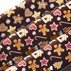PCB Chocolate Transfer Sheet: Gingerbread. Size: 16 x 10 - Pack of 15