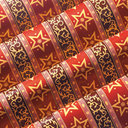 Chocolate Transfer Sheet: Regal Star Design. 15 sheets per pack. Each Sheet 16 x 10