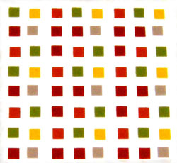 Chocolate Transfer Sheet: Carres (Multi-Colored Squares). 15 sheets per pack. Sheet Size 16 x 10