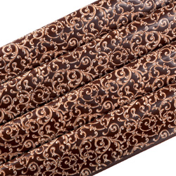 PCB Chocolate Transfer Sheet: Baroque Design - Pack of 15