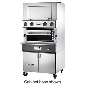 vulcan vir1f v series matched infrared upright broiler 36 modular for base
