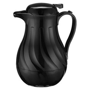 Winco Beverage Server Insulated, Black, 42 Oz.