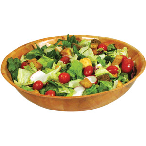 Winco Woven Wooden Salad Bowl