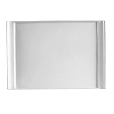 CAC China Dynasty Rectangular Bone White Porcelain Plate, 12 x 9
