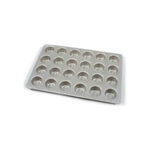 Aluminized Steel Cupcake / Muffin Pan Glazed 24 Cups. Cup Size 2-3/4 Dia. 1-3/8 Deep. Overall Size 14 x 20-2/3
