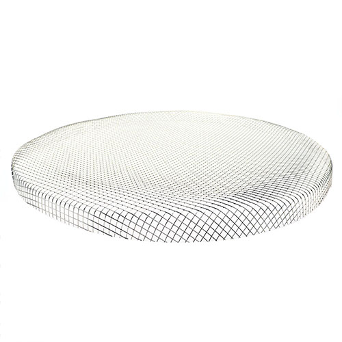 Replacement Screen for 16 Dia. Heavy Gauge Sieve, Mesh #4 - for Crumbs, Stainless Steel