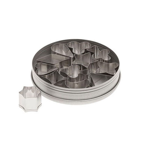 Ateco Stainless Steel 1 Aspic/Jelly Cutters, 12 Piece Set