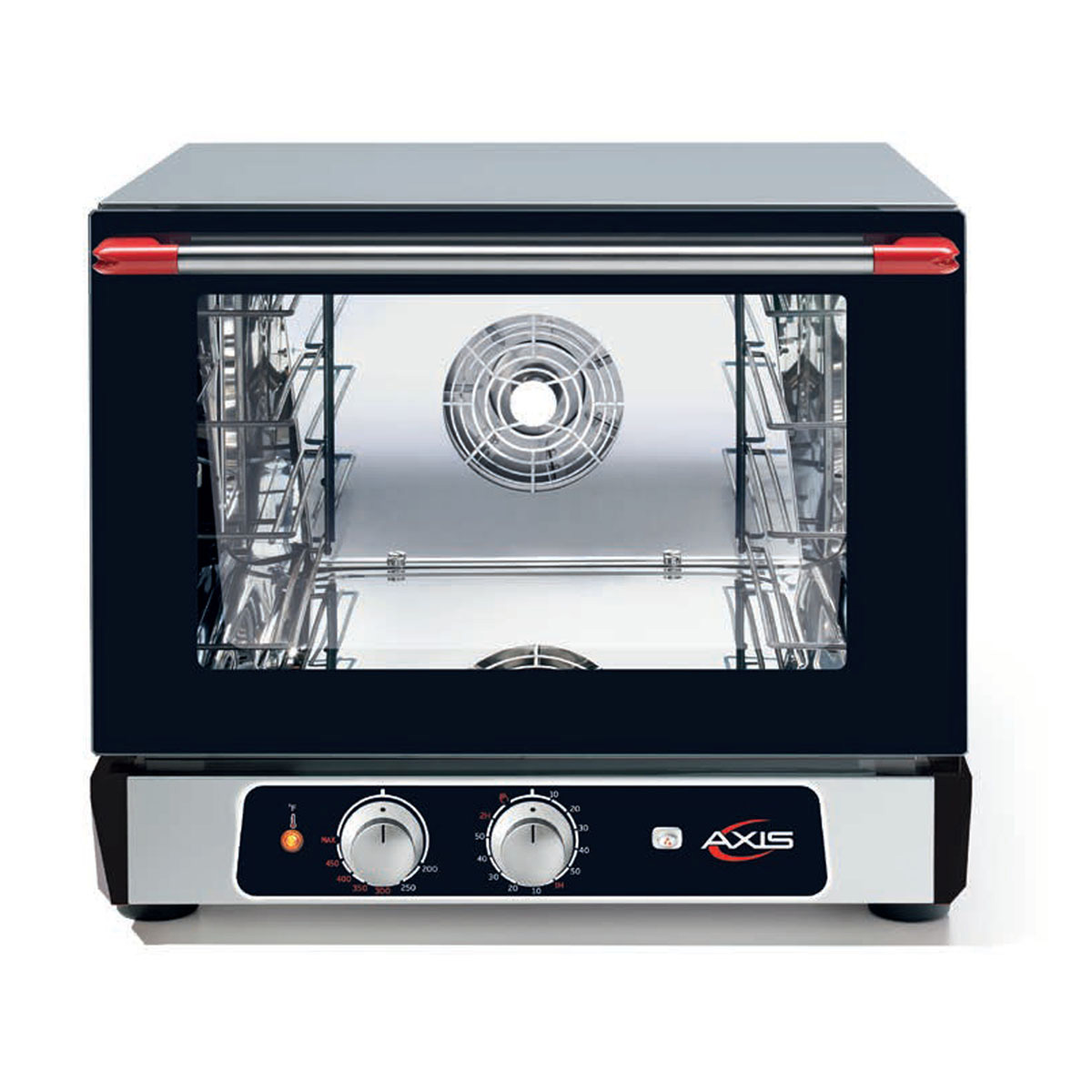 Axis AX-513RH Half-Size Countertop Electric Convection Oven with Humidity,  Manual Control