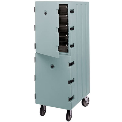 Cambro 1826DBC401 Camcart for Food Storage Boxes - Slate Blue