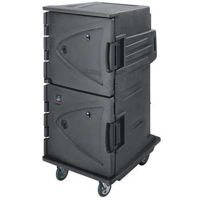 Cambro CMBH1826TSC191 Granite Gray Camtherm Electric Cabinet Tall Profile, 6 Rear Casters, Celsius HOT ONLY