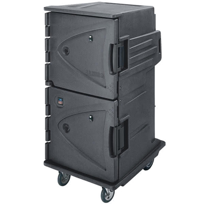 Cambro CMBHC1826TBC191 Granite Gray Camtherm Electric Cabinet, Tall Profile, 10 Rear Casters, Celsius, Hot or Cold
