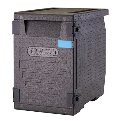 Cambro EPP400110 GoBox Insulated Plastic Front-Loader Food Pan Carrier